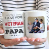 The only thing I love more than being a veteran is being a papa custom photo mug - gift for grandpa