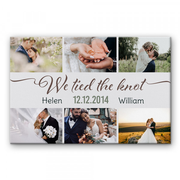 we tied the knot custom canvas print