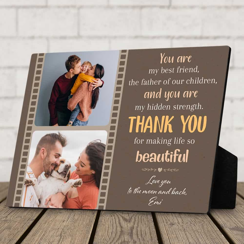 The father of our children plaque custom desktop plaque