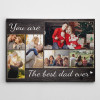 best dad ever photo collage canvas print - father's day gift for dad