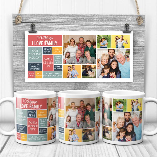 10 things i love about our family custom photo collage mug
