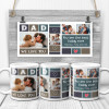 Dad we love you you are the best daddy ever custom photo collage mug-B