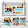 a BFF photo collage mug with the quote There are friends there is family and then there are friends that become family