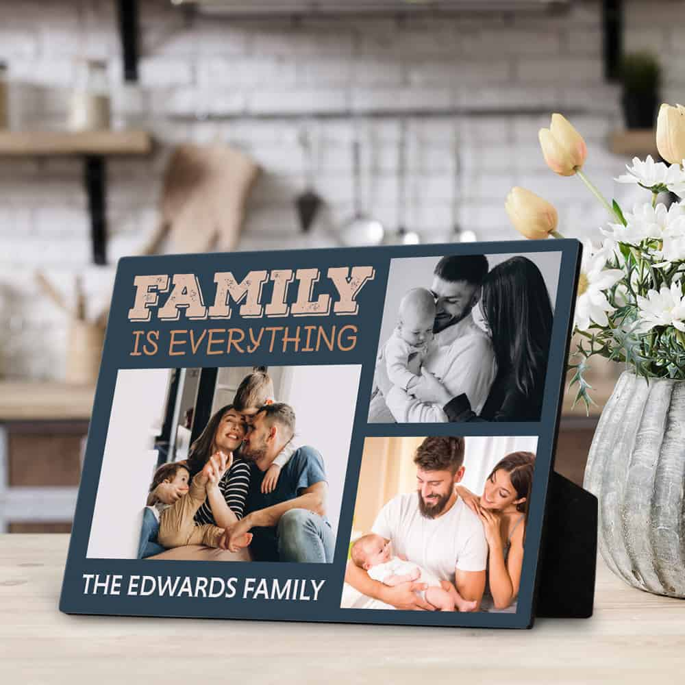 family is everything custom plaque
