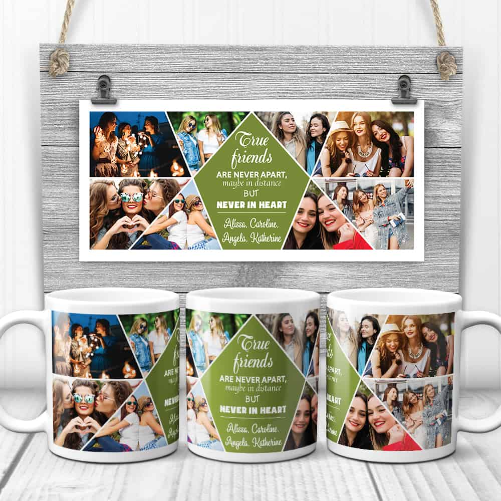 true friends are never apart custom mug