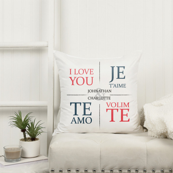 """""""I Love You"""" Personalized Pillow"""