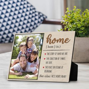 Home Definition Custom Desktop Photo Plaque