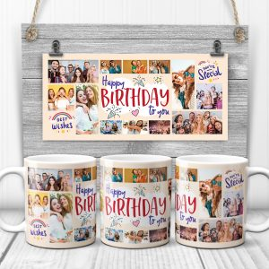 birthday photo collage mug - birthday gift idea