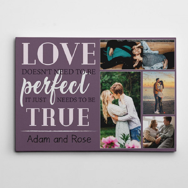 ove does not need to be perfect canvas print