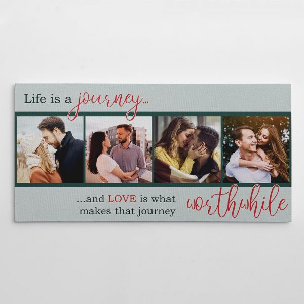 """""""Life is A Journey"""" Photo Canvas Print - romantic gift"""