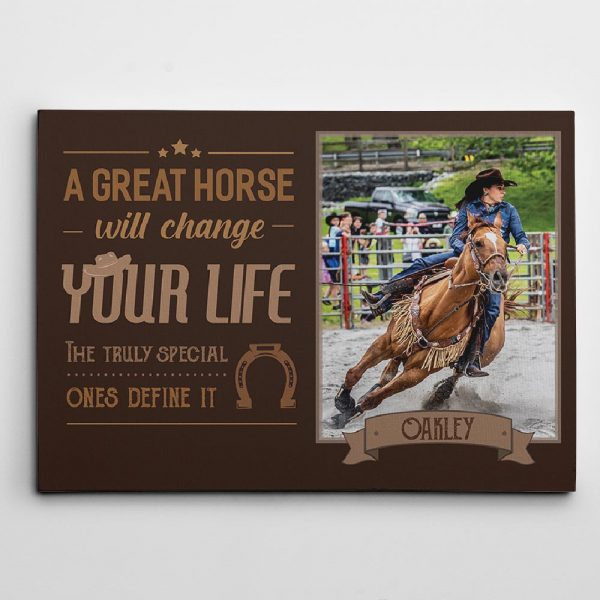 A great house will change your life custom photo canvas