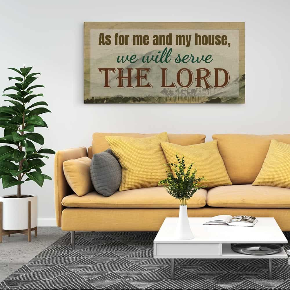 As For Me and my House We will Serve The Lord Wall Banner Customize WB38