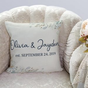 Personalized Couple Established Pillow