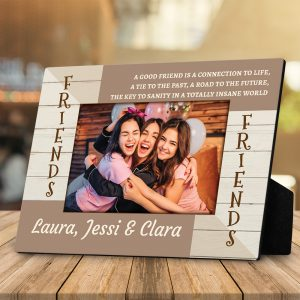a good friend is a connection to life custom photo desktop plaque