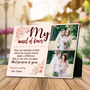 my maid of honor custom photo plaque - gift for maid of honor