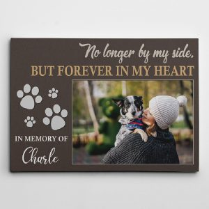 """No Longer by My Side"" - Pet Memorial - Custom Photo Canvas Print"