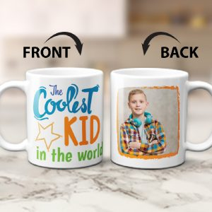 the coolest kid in the world photo mug - gift for kids