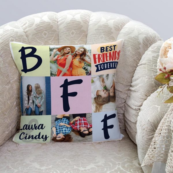 Best Friends Forever BFF Custom Photo Pillow