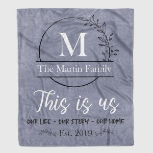 This is us personalized throw blanket