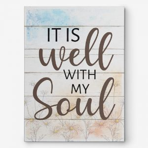 It Is Well With My Soul Canvas Print - Christian GiftGift