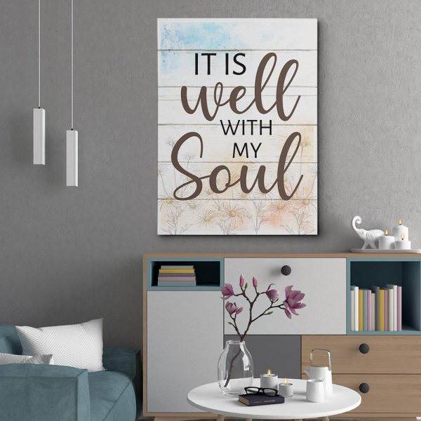 It Is Well With My Soul Canvas Print - Christian Gift