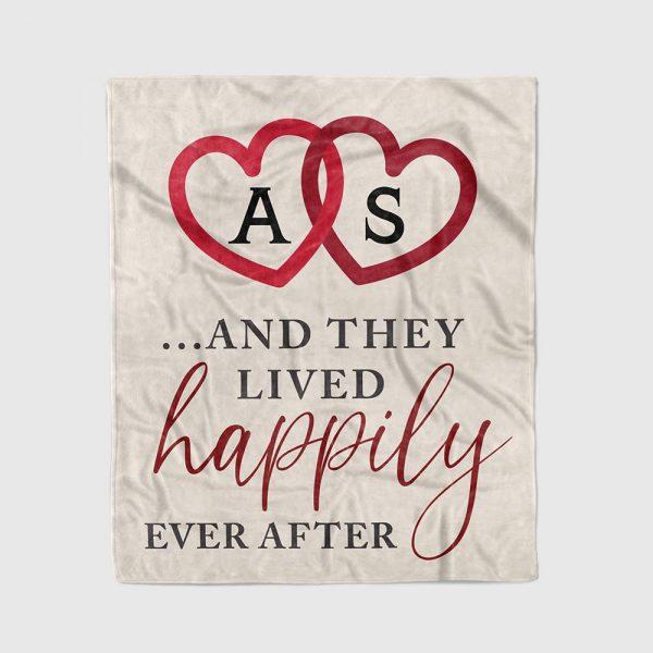 And They Lived Happily Ever After Custom Name Blanket