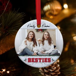 Personalized Besties Photo Ornament