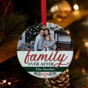 family ever after custom Christmas ornament
