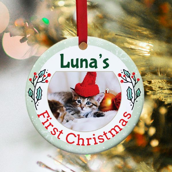 pet first christmas ornament - gift for pet lovers