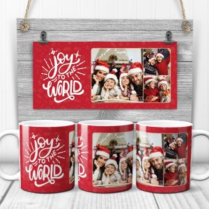 Joy To The World Christmas Custom Photo Mug