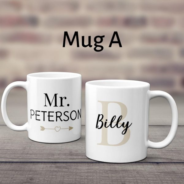 Mr And Mrs Custom Couple Mug