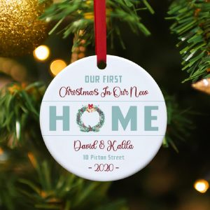 first christmas in our new home custom ornament - new house gift
