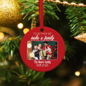Together We Make A Family Custom Photo Ornament