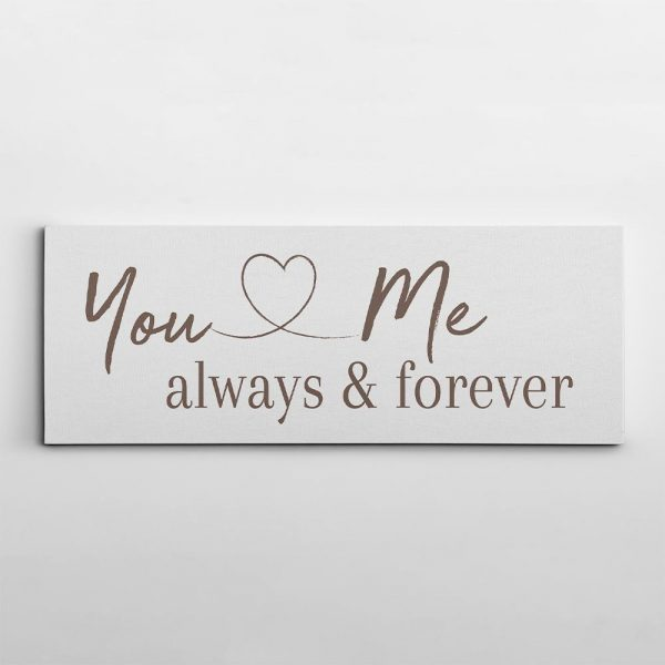You And Me Always And Forever Canvas Print