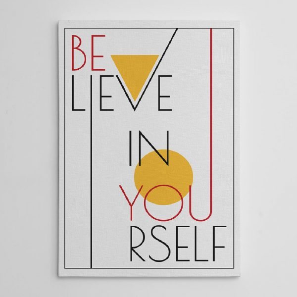 Believe in yourself canvas print A-01
