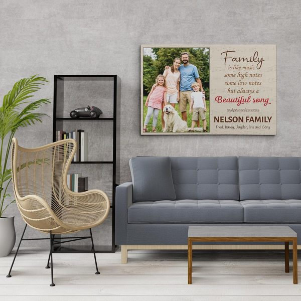 Family Is Like Music - Custom Photo Canvas Print