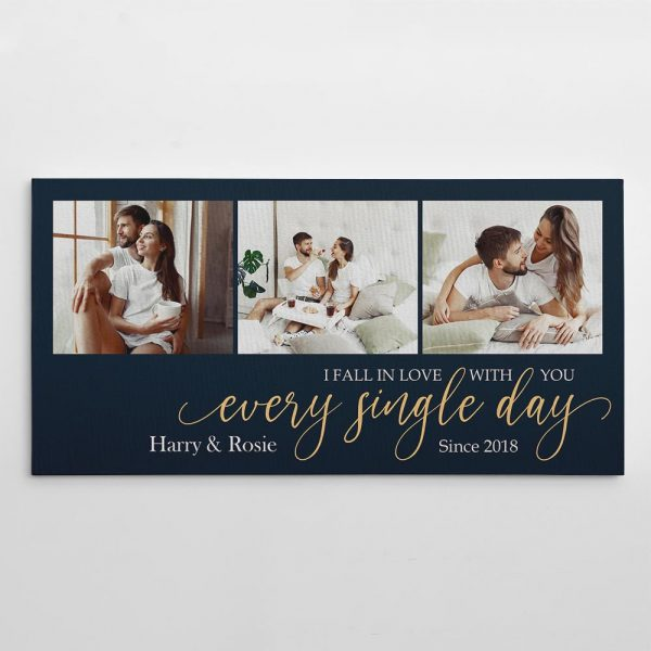 I Fall In Love With You Every Single Day Custom Canvas Print
