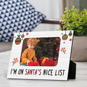 i'm on santa's nice list photo plaque - christmas gifts for kids