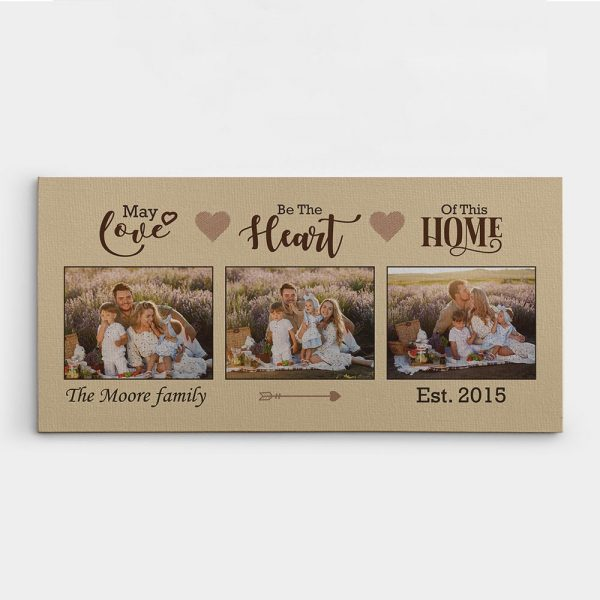 May Love Be The Heart Of This Home custom photo collage canvas print