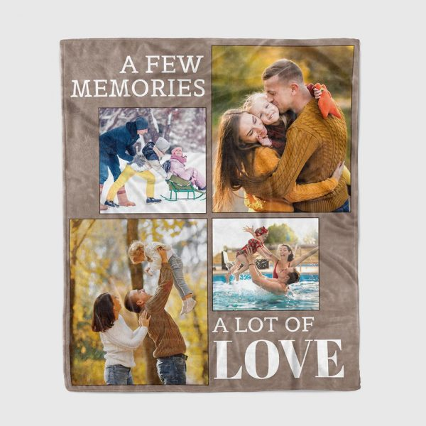 A Few Memories A Lot of Love custom collage canvas print