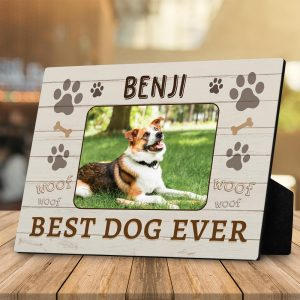 gift ideas for dog lovers: Best Dog Ever custom plaque