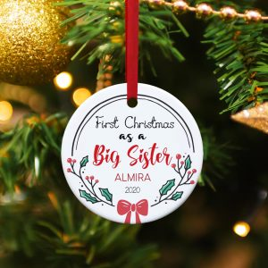 ornament - Personalized Big Sister's First Christmas Ornament