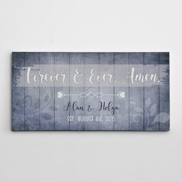 Forever and Ever, Amen canvas sign - christian gift ideas