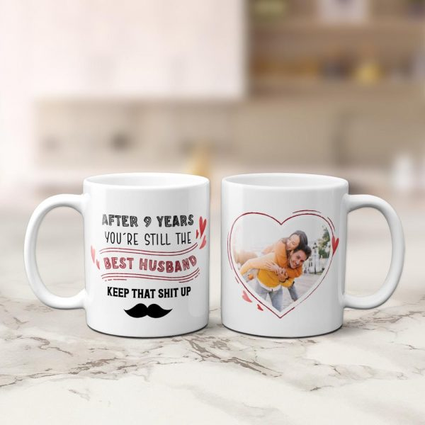 After 9 Years You Are Still The Best Wife Photo Mug
