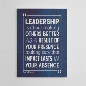 Leadership is about making others better - canvas print