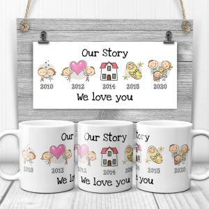 Our Story Timeline Custom Year Mug