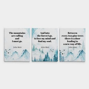 The Mountains Are Calling And I Must Go - Split Canvas Print