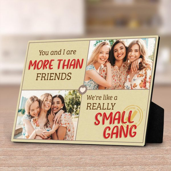 you and I are more than friends custom desktop plaque