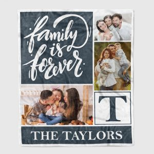 Family Is Forever - Custom Photo Collage Blanket