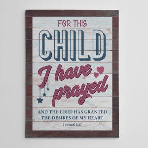 for this child I have prayed canvas print 01